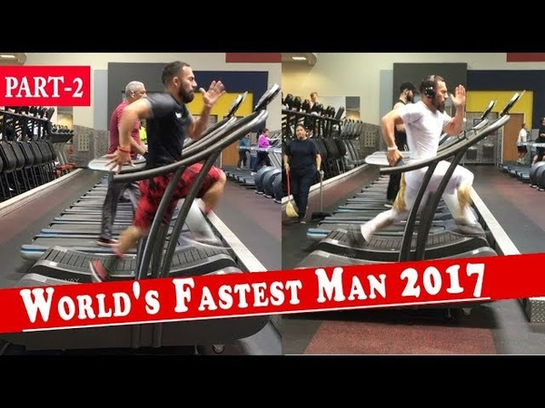 Fastest treadmill runner in the world | Running Speed of 23.9 MPH | luis badillo jr 2