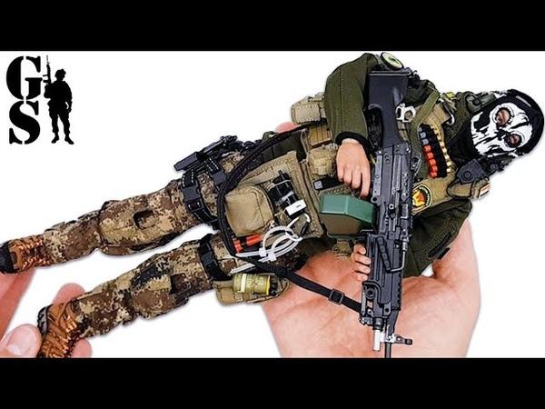 Иракский спецназ: фигурка пулеметчика ISOF от Soldiers Story в масштабе 1/6