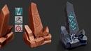 Autodesk Maya 2019, Zbrush 2019, Substance Painter - Stylized Rock with Runes