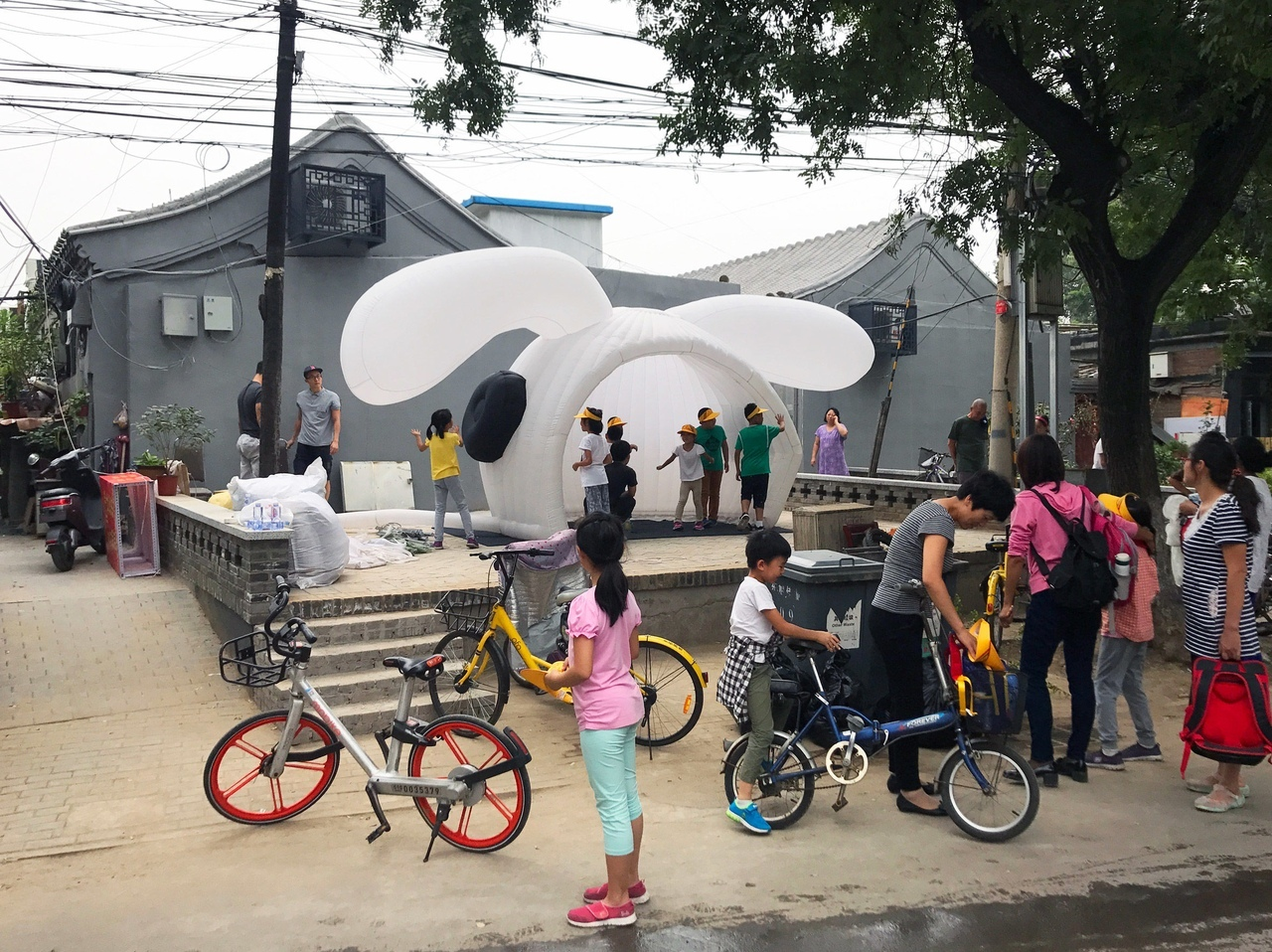 MAD creates inflatable pavilion shaped like a rabbit's head