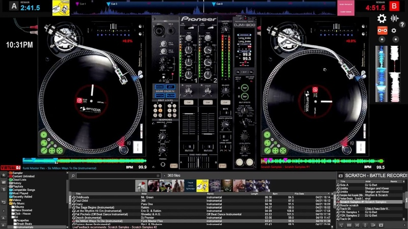 Virtual DJ 8 - Mouse Keyboard Scratch Freestyle Session 2