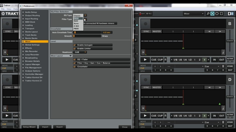 How to change Sound or EQ type Traktor pro 2