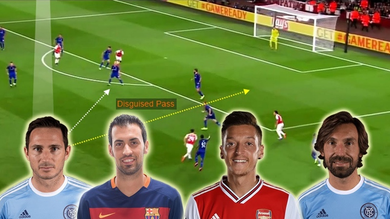 The Masters of Disguised Passing Lampard Ozil Pirlo