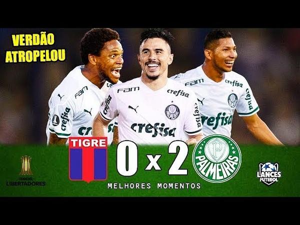 Tigre 0 x 2 Palmeiras - TEVE GOLAÇO DO BIGODE ! Melhores Momentos (COMPLETO) - Libertadores 2020