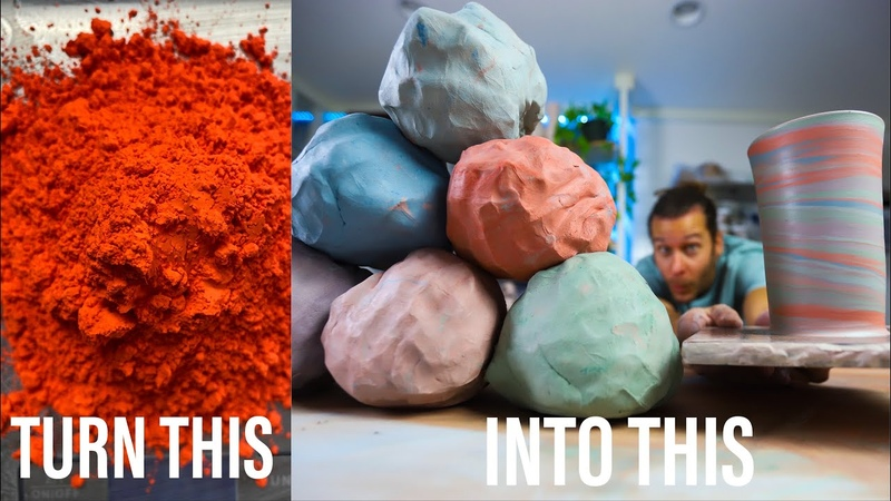 How to MAKE COLORED CLAY The ENTIRE PROCESS
