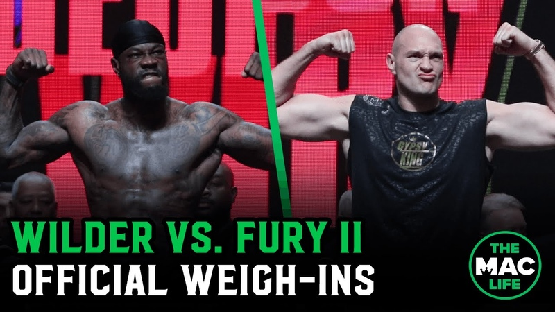 Tyson Fury and Deontay Wilder look ripped on the scales in front of crazy fans at Official Weigh Ins