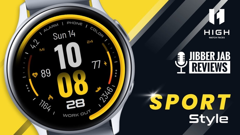 HUGE Coupon Giveaway! Samsung Galaxy Watch Active 2 Galaxy Watch Face by High Watchfaces