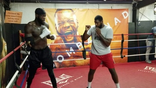 DEONTAY WILDER: SHADOW SPARRING,  PREPARATIONS FOR LUIS ORTIZ REMATCH  !!
