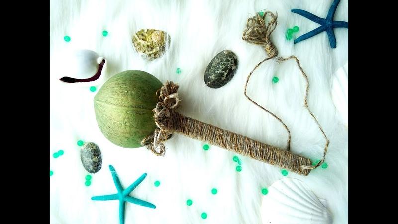 Green maracas pea buckwheat in a bag handmade maracas / Зеленый маракас в мешочке handmade maracas