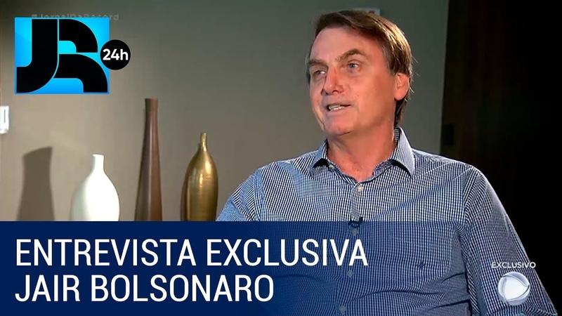 Bolsonaro concede entrevista exclusiva ao Jornal da Record antes de deixar hospital