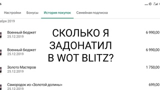 Сколько я задонатил wot blitz?