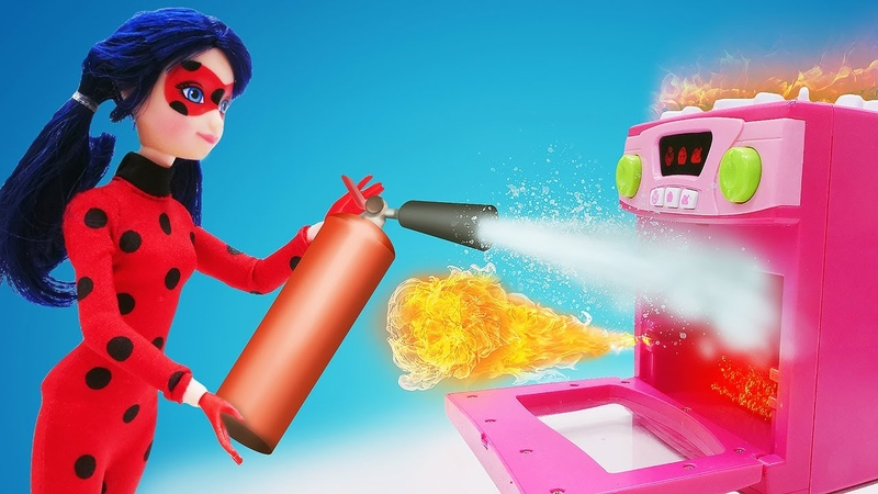 Мультик сказка из кукол Леди Баг спасла День рождения Маринетт Игры для девочек