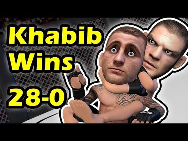 Khabib Nurmagomedov Submits Dustin Poirier retain his Title at UFC 242