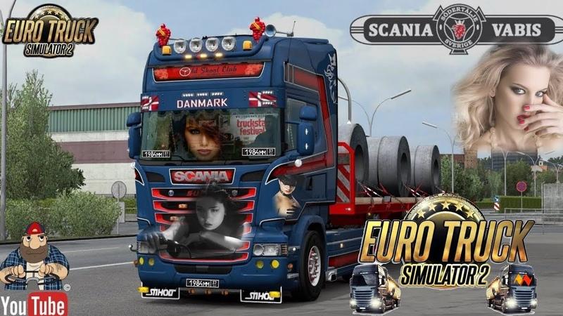 EURO TRUCK SIMULATOR 2 Scania RJL Tuning V8