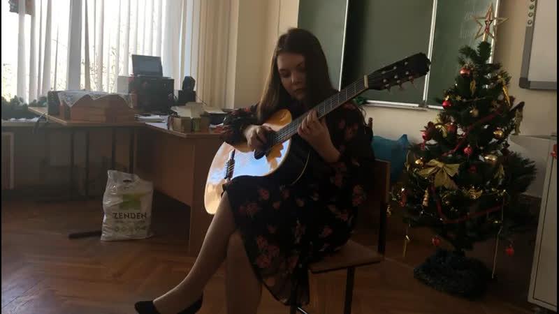 Ника играет на гитаре, День чая 2019