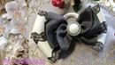 Нарядные бантики канзаши из лент своими руками/DIY ribbon bows