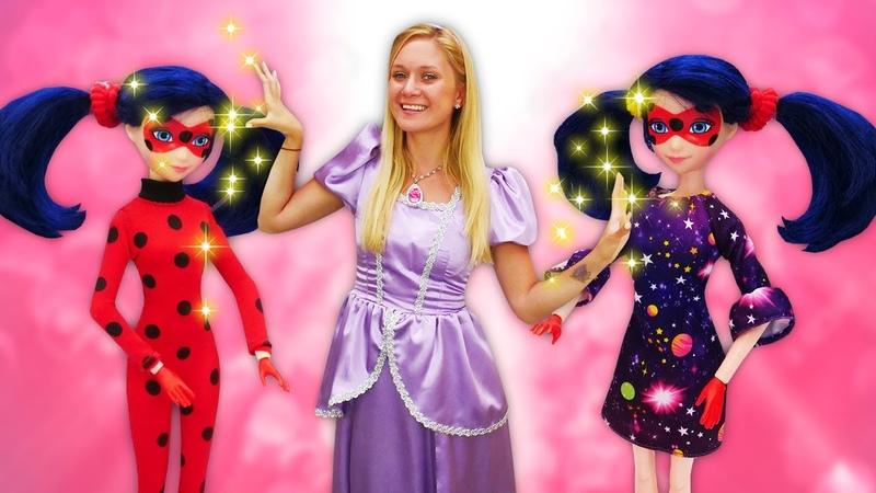 Um dia de princesa com a Ladybug no salão de beleza Contos de fada da Princesa Sofia