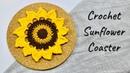 MÓC LÓT LY Hướng dẫn móc lót ly đơn giản họa tiết hoa hướng dương NoLi Handmade