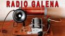 Radio Galena funcionando Aparato de Radio Galena Receptor de Radio Galena