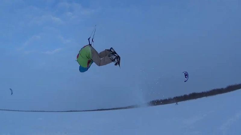Snowkiting 11 02 2020 Тренировка по фристайлу кайт клуб Скай