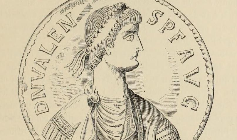Император Валент, для которого Евтропий написал краткий обзор римской истории (иллюстрация из издания: Duruy V. Histoire des Romains. T. VII. Paris, 1885. P. 425).