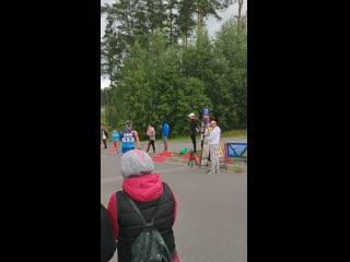 Финиш командного спринта на Чемпионате России по лыжероллерным гонкам 2019