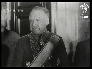 France's ambassador to Russia, Le Comte Dejean, visits French Embassy in Moscow. (1931)