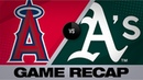 A's smash 3 homers in 4 0 shutout of Angels Angels Athletics Game Highlights 9 4 19