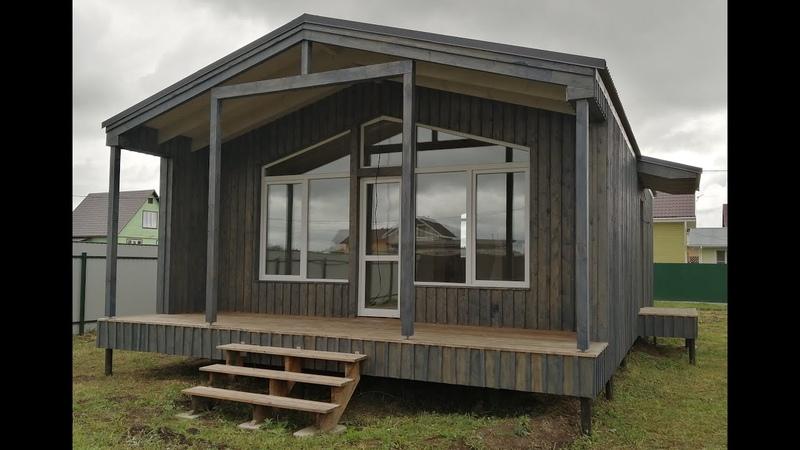 Каркасный дом 62,2 м2 в скандинавском стиле.