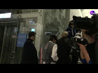Bts in the airport departure to la see you soon