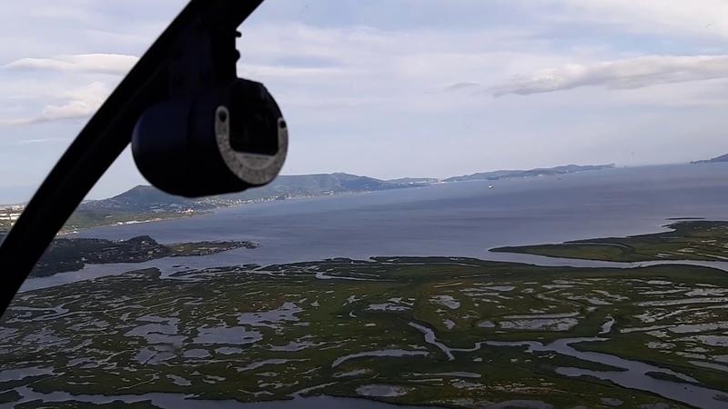 Полёт на вертолёте Robinson R44 на Камчатке