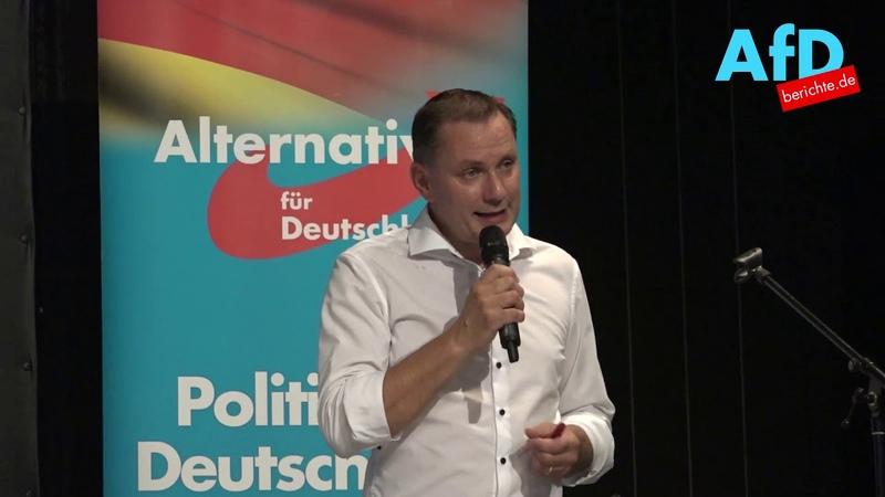 Tino Chrupalla MdB AfD spricht in Weißwasser