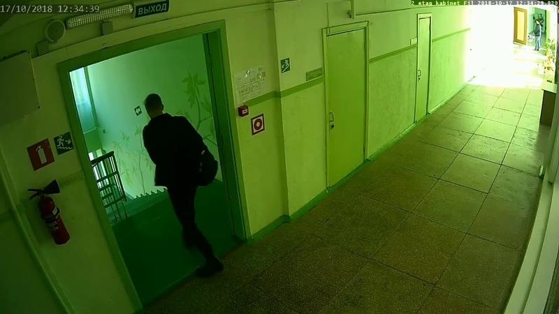 Запись с камер видеонаблюдения в Керченском Политехническом Колледже 17 октября 2018 год