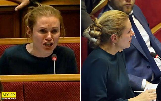 Слуга народа расплакалась в Раде из-за законопроекта: появилось видео