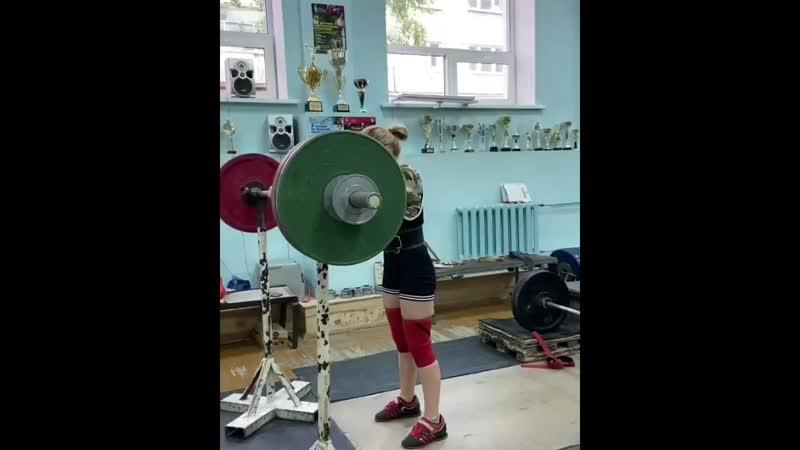 Елена Воронцова приседает 92,5 кг на 6