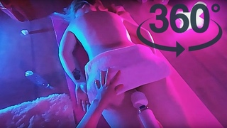 VR 360 Girl Gets Relaxing Massage with Electric Massager Tutorial