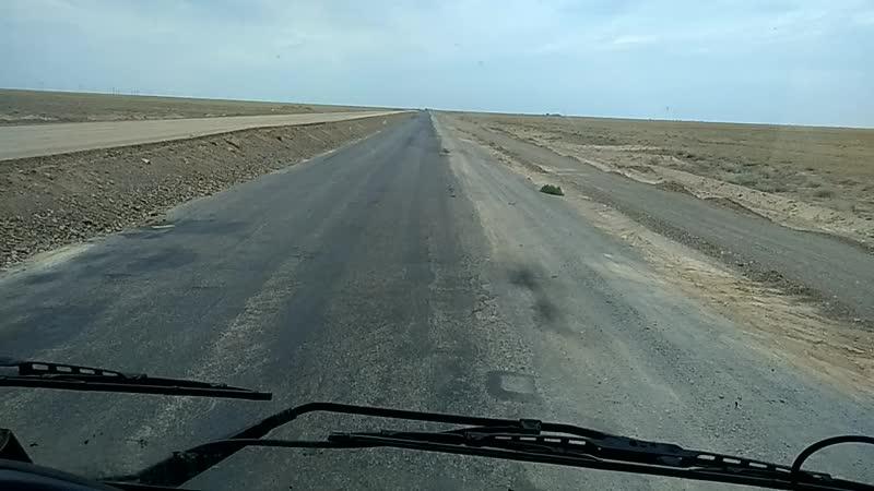 крестнику показывала Казахстан . По трассе Алматы-Балхаш