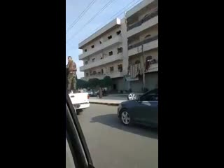 Another video from Russian military police in Manbij