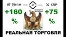 XRP и XLM работа на монетах Прошлая точка входа XRP 75% XLM 160% Реальная торговля