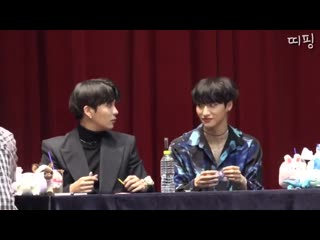 The way seonghwa just gently placed it on the table and flattened it like he thought it'd save him 😭😭😭
