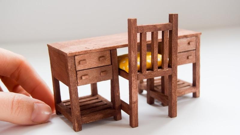 Minyatür Çalışma Masası Yapımı Kendin Yap Barbie Masa Yapımı