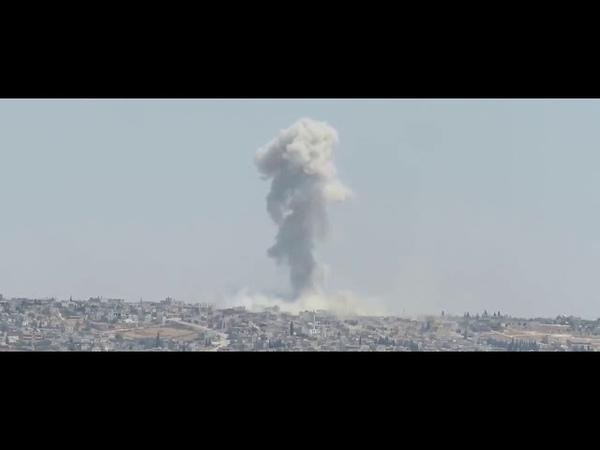 Истребители Су-35 защищают сирийские L-39 во время ударов по Хан-Шейхуну