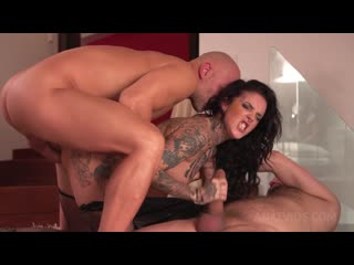 Inked slut Yemaya Gonzalez Gaped and DPed by two huge cocks