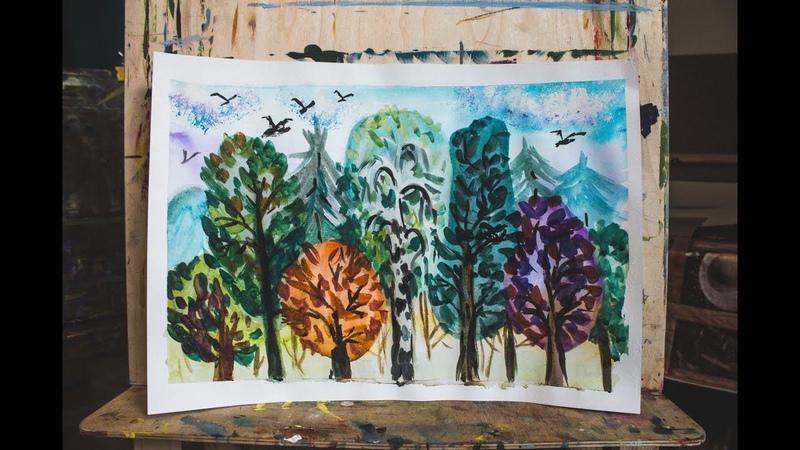 Art Kudrovo Бесплатный урок №2 пейзаж