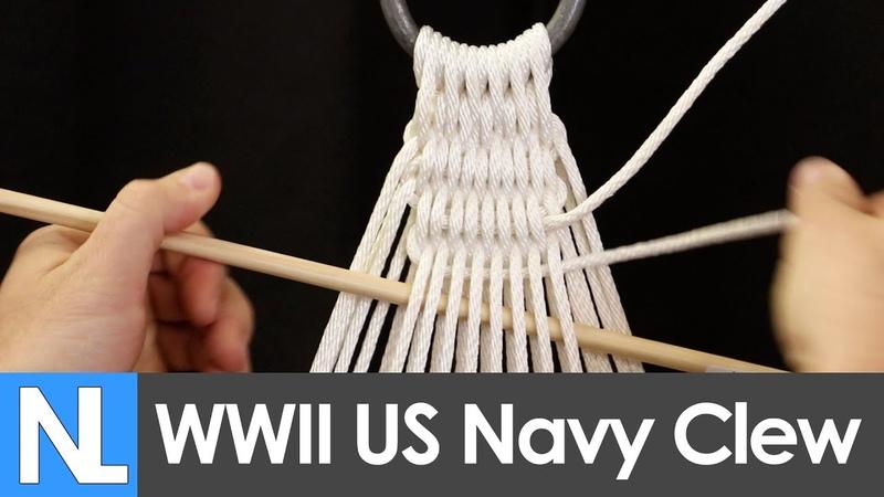 Authentic WWII US Navy Hammock clew tying tutorial Simple DIY