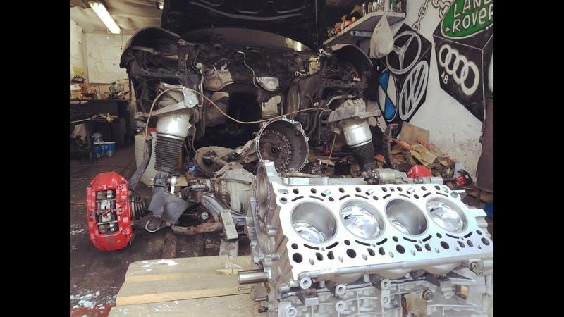 Блок вернулся как новый Убитый Porsche Turbo S своими руками Монстр 11