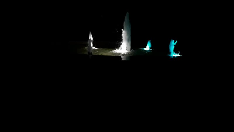 вечерний фонтан в санатории