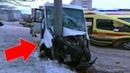 Видео ДТП маршрутки со столбом на ул Профсоюзной около Александровского сада