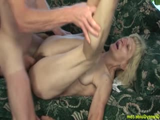 [grannyguide] hairy 80 years old skinny mom rough fucked