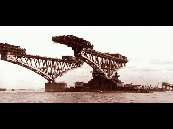 Первый керченский мост 1944 г Рельсы над проливом